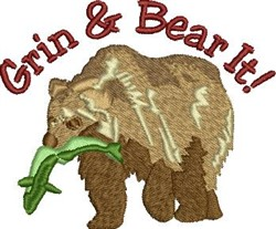 Grin Bear It embroidery design