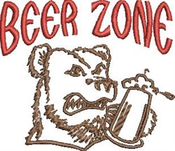 Beer Zone embroidery design