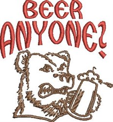 Beer Anyone? embroidery design