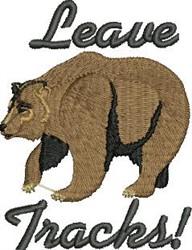 Leave Tracks embroidery design