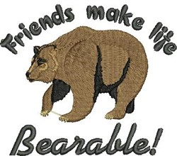 Friends embroidery design