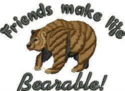 Life Bearable embroidery design