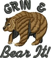 Grin & Bear embroidery design