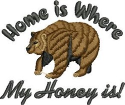 Where Honey Is embroidery design