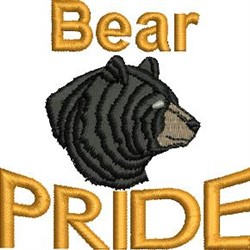 Bear Pride embroidery design