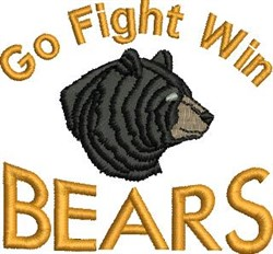 Go Fight Bears embroidery design