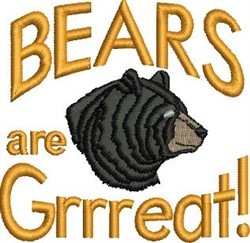 Bears Are Great embroidery design