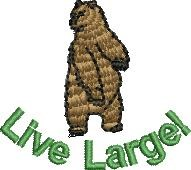 Live Large embroidery design