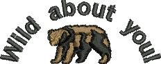 Wild About You embroidery design