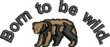 Born Wild embroidery design