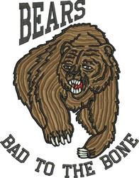 Bad To Bone embroidery design
