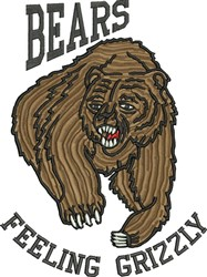Feeling Grizzly embroidery design