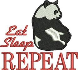 Eat Sleep Repeat embroidery design
