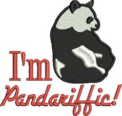 Pandariffic embroidery design