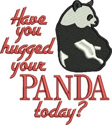 Hug Your Panda embroidery design