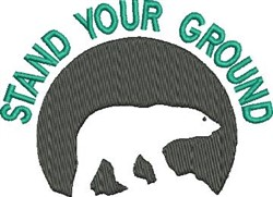 Stand Your Ground embroidery design