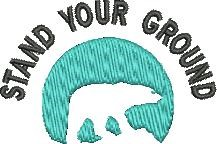 Stand Ground embroidery design