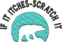 Scratch it embroidery design