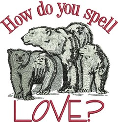 Spell Love embroidery design