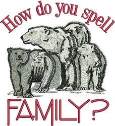 Spell Family embroidery design