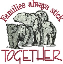 Stick Together embroidery design