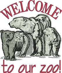 Welcome To Zoo embroidery design
