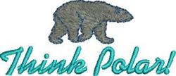 Think Polar embroidery design