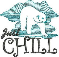 Just Chill embroidery design