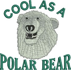 Cool Polar Bear embroidery design