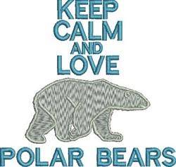 Love Polar Bears embroidery design