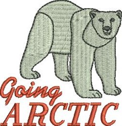 Going Arctic embroidery design