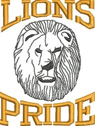 Lions Pride embroidery design