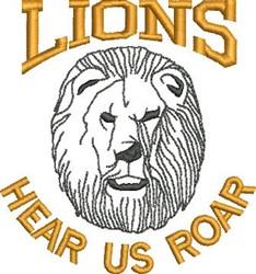 Hear Us Roar embroidery design