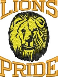Lions Pride embroidery design