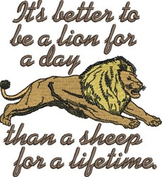 Lion For Day embroidery design