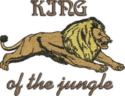 King Of Jungle embroidery design