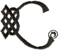 Celtic C embroidery design