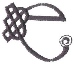 Celtic E embroidery design