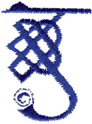 Celtic G embroidery design