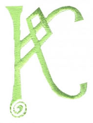 Celtic K embroidery design