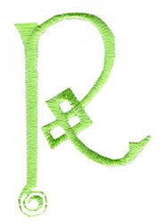 Celtic R embroidery design
