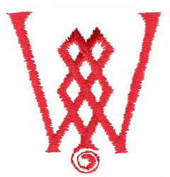 Celtic W embroidery design