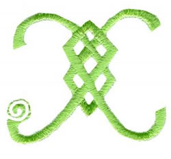 Celtic X embroidery design
