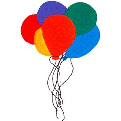 Cluster of Balloons embroidery design