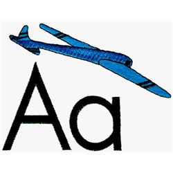 A is for Airplane embroidery design