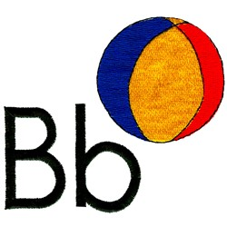 B is for Beachball embroidery design