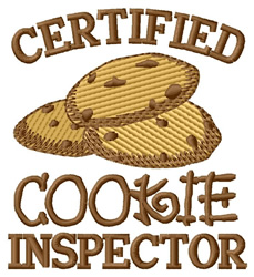 Certified Cookie Inspector embroidery design