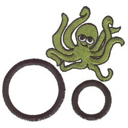 O is for Octopus embroidery design