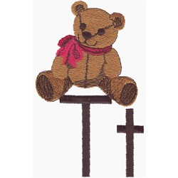 T is for Teddy embroidery design
