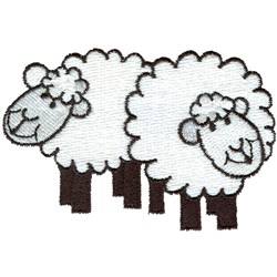 Two Sheep embroidery design